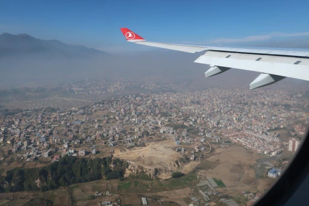 Érkezés Katmandu