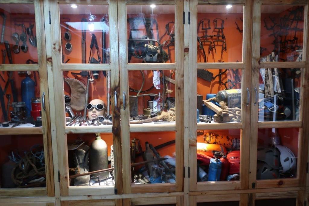 Namaste Lodge, régi expedíciós felszerelések