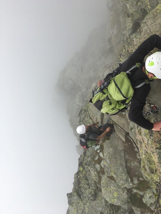 Visszamászás a Dol des Sagnettes-ből