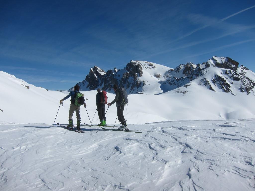 Cole des Muandes, a háttérben a Mt Thabor csúcsa is látszik