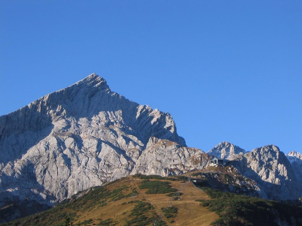 Alpspitze a Kreuzeckhaus felől