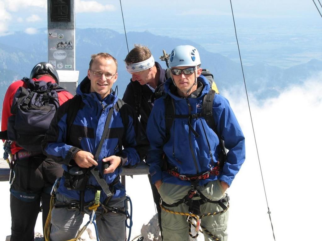 Kis csapatunk az Alpspitzén